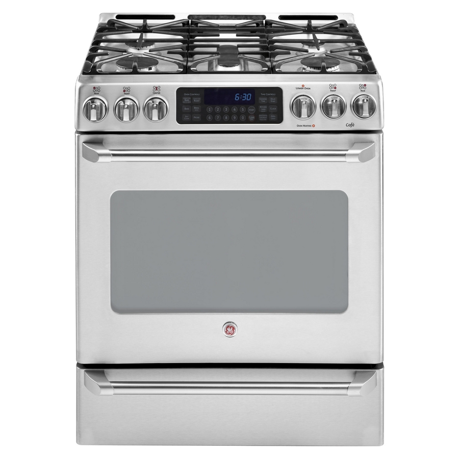 Ge Oven: Ge Cafe Double Oven Gas Range