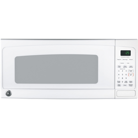 GE 1 cu ft 800-Watt Countertop Microwave (White)