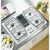 GE Profile 4-Burner Downdraft Gas Cooktop (White) (Common: 30-in; Actual 29.875-in)