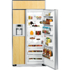 GE Profile 25.2-cu ft Built-In Side-by-Side Refrigerator with Single Ice Maker (Custom Panel)