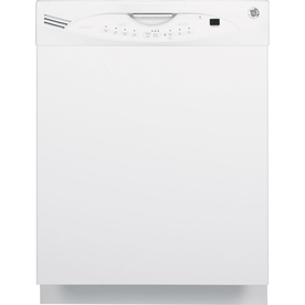 GE 24-in Built-In Dishwasher with Stainless Steel Tub (White)