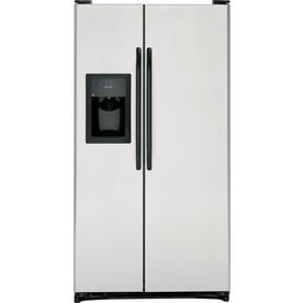 Lowe's - 25.3 Cu. Ft. Side-by-Side Refrigerator (Color ...