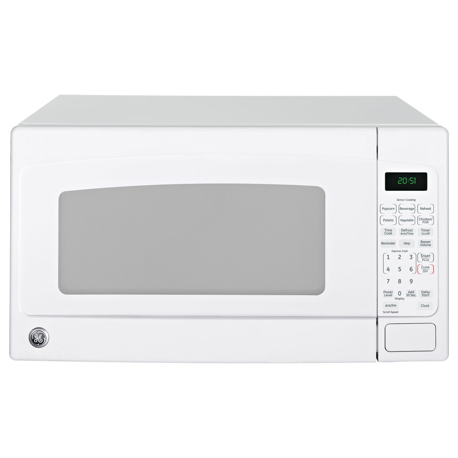 Countertop Microwave White : Shop GE 2-cu ft 1,200-Watt Countertop Microwave (White) at Lowes.com