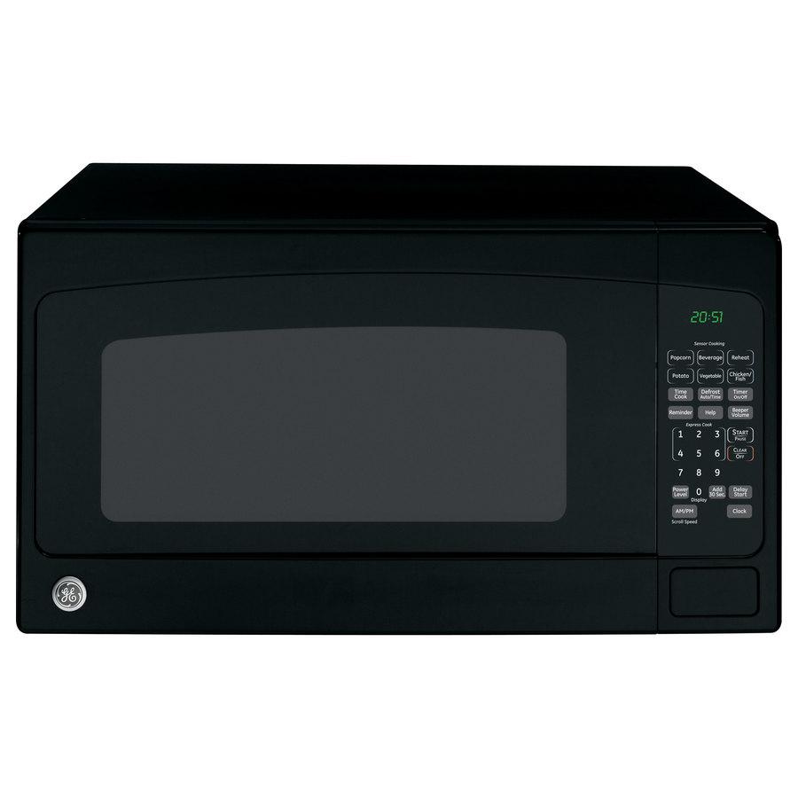 Shop GE 2-cu ft 1,200-Watt Countertop Microwave (Black) at Lowes.com