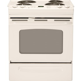 GE 30-in 4.4 cu ft Self-Cleaning Slide-In Electric Range (Bisque)