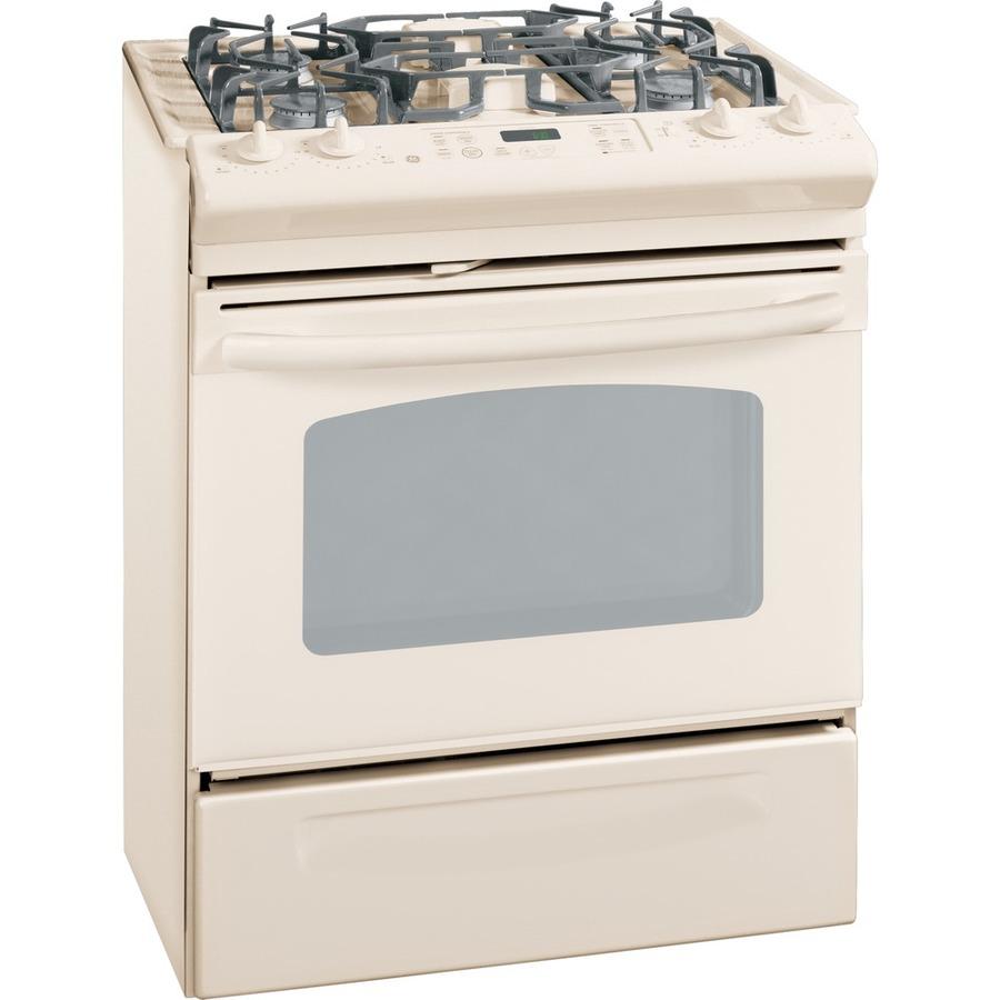 Shop ge 30 inch 4 burner slide in gas range color bisque at lowes