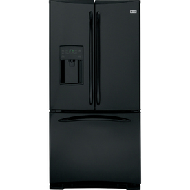 GE Profile 22.2 cu ft French Door Refrigerator (High-Gloss Black) ENERGY STAR