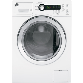 GE 2.2-cu ft High-Efficiency Stackable Front-Load Washer (White) ENERGY STAR