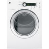 GE 4-cu ft Stackable Electric Dryer (White)