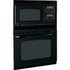 GE 29-3/4-in Self-Cleaning Microwave Wall Oven Combo (Black)