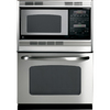 GE 29-3/4-in Self-Cleaning Microwave Wall Oven Combo (Stainless Steel)