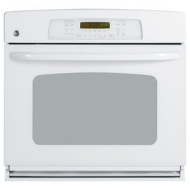 GE 30-in Self-Cleaning Convection Single Electric Wall Oven (White)
