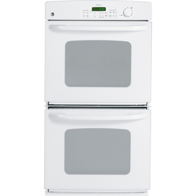 GE 27-in Self-Cleaning Double Electric Wall Oven (White)