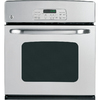 GE 27-in Self-Cleaning Single Electric Wall Oven (Stainless Steel)