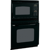 GE 26-5/8-in Self-Cleaning Microwave Wall Oven Combo (Black)