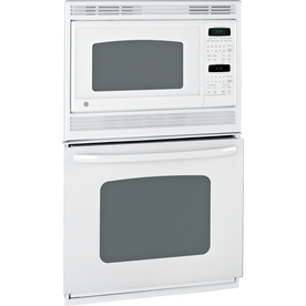 GE Self-Cleaning Microwave Wall Oven Combo (White on White) (Common: 27-in; Actual 26.625-in)