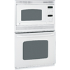 GE 26-5/8-in Self-Cleaning Microwave Wall Oven Combo (White)