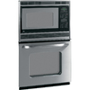 GE 26-5/8-in Self-Cleaning Microwave Wall Oven Combo (Stainless Steel)