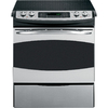 GE Profile 30-in Smooth Surface 5-Element 4.1 cu ft Self-Cleaning Slide-In Convection Electric Range (Stainless Steel)