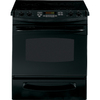 GE Profile 30-in Smooth Surface 5-Element 4.4 cu ft Self-Cleaning Slide-In Electric Range (Black)
