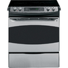 GE Profile 30-in Smooth Surface 5-Element 4.4 cu ft Self-Cleaning Slide-In Electric Range (Stainless Steel)