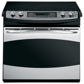 GE Profile 30-in Smooth Surface 5-Element 4.1 cu ft Self-Cleaning Drop-In Convection Electric Range (Stainless Steel)