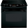 GE Profile 30-in Smooth Surface 4.4 cu ft Self-Cleaning Drop-In Electric Range (Black)