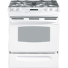 GE Profile 30-in 4.1 cu ft Self-Cleaning Slide-In Convection Gas Range (White)