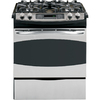 GE Profile 30-in 4.1 cu ft Self-Cleaning Slide-In Convection Gas Range (Stainless Steel)