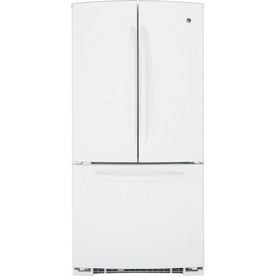 GE 22-cu ft French Door Refrigerator with Single Ice Maker (White) ENERGY STAR