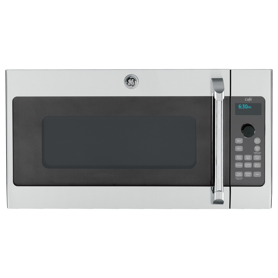 Shop Ge Cafe 1 7 Cu Ft Over The Range Convection Microwave