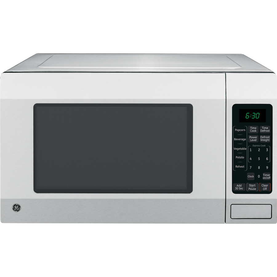 ... GE 1.6-cu ft 1,150-Watt Countertop Microwave (Stainless) at Lowes.com