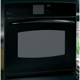 GE Profile 30-in Self-Cleaning Convection Single Electric Wall Oven (Black)