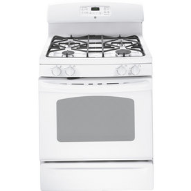 GE Freestanding 5-cu Self-Cleaning Gas Range (White) (Common: 30; Actual: 30-in)