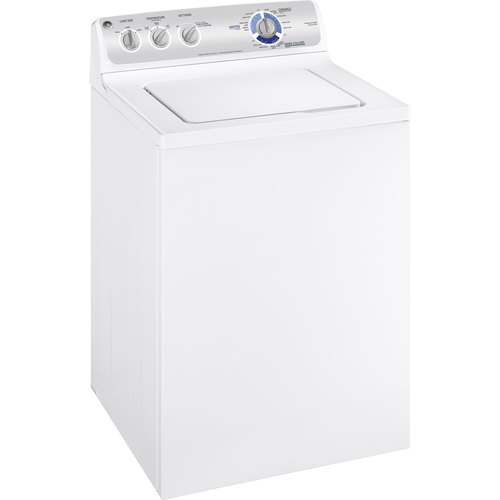 Zoomed: GE 3.6 Cu. Ft. Top-Load Washer (White)