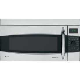 GE Profile 1.7-cu ft Over-The-Range Convection Oven Microwave with Sensor Cooking Controls (Stainless Steel) (Common: 30-in; Actual: 29.93-in)