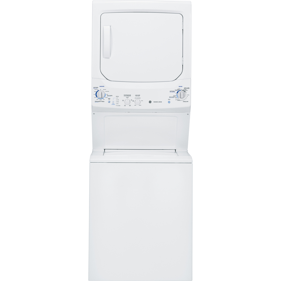 Shop Ge Electric Stacked Laundry Center With 3 2 Cu Ft