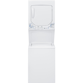 GE Gas Stacked Laundry Center with 2.2-cu ft Washer and 4.4-cu ft Dryer (White)