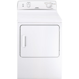 Hotpoint 6 cu ft Electric Dryer (White on White) HTDX100EMWW