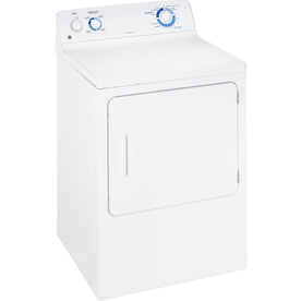 GE 6 Cu. Ft. Electric Dryer (White on White)