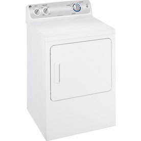 GE® 7 Cu. Ft. Electric Dryer (Color: White on White)