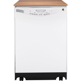 GE 24.25-in Portable Dishwasher (White) ENERGY STAR