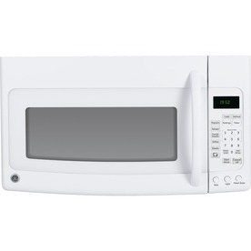 GE 1.9-cu ft Over-The-Range Microwave with Sensor Cooking Controls (White) (Common: 30-in; Actual: 29.87-in)