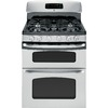 GE 30-in 5-Burner 2.4 cu ft/4.3 cu ft Double Oven Convection Gas Range (Stainless Steel)