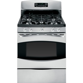 GE Profile 30-in 5-Burner Freestanding 5.4 cu ft Convection Gas Range (Stainless Steel)
