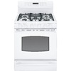 GE Profile 30-in 5-Burner 5.4-cu ft/1-cu ft Self-Cleaning Double Oven Convection Dual Fuel Range (White)