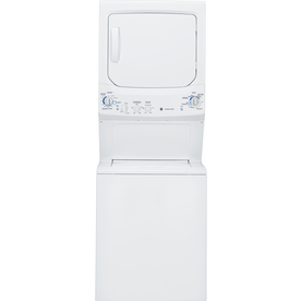 GE Electric Stacked Laundry Center with 3.4-cu ft Washer and 5.9-cu ft Dryer ENERGY STAR