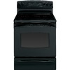 GE Profile 30-in Freestanding Smooth Surface 5-Element 5.3 cu ft Self-Cleaning Convection Electric Range (Black)