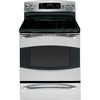 GE Profile 30-in Freestanding Smooth Surface 6-Element 6.6 cu ft Self-Cleaning Convection Electric Range (Stainless Steel)