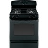 GE Freestanding 4.8-cu Self-Cleaning Gas Range (Black) (Common: 30; Actual: 30-in)